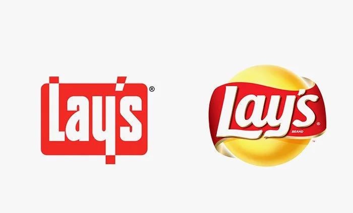 Logo lays prima e dopo