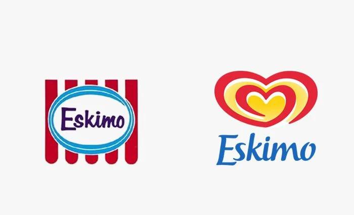 Logo eskimo prima e dopo