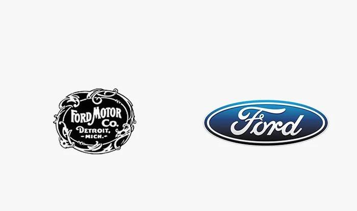 Logo ford prima e dopo