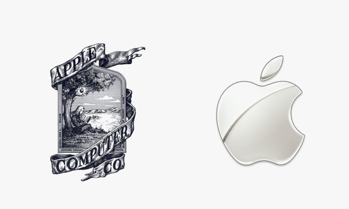 Logo apple prima e dopo