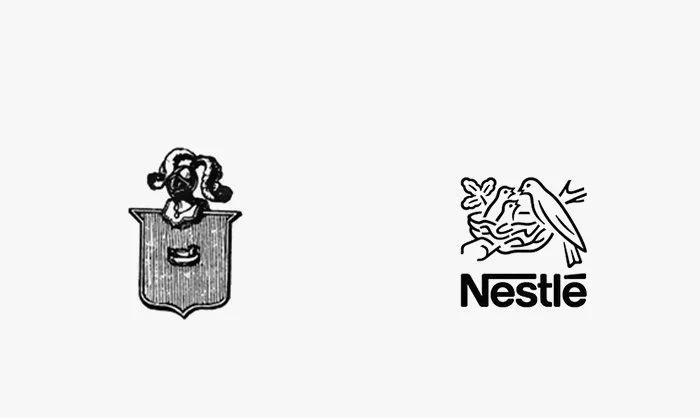 Logo nestle prima e dopo
