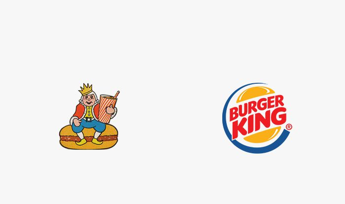Logo burger king prima e dopo