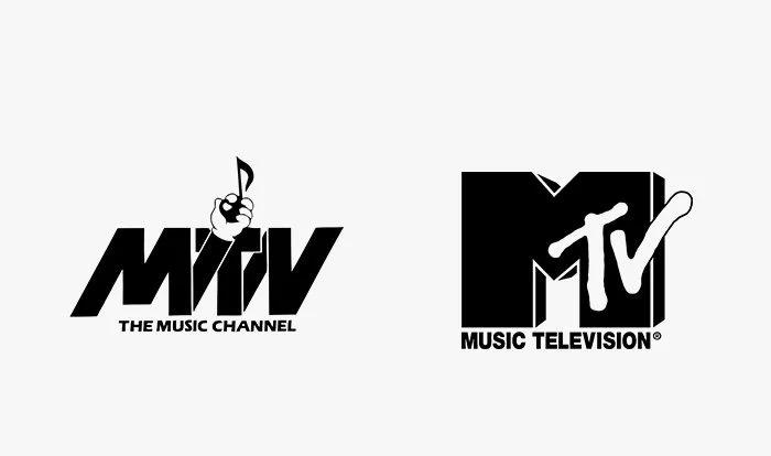 Logo mtv prima e dopo