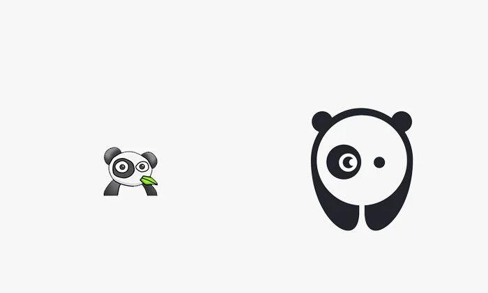 Logo bored panda prima e dopo