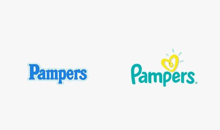 Logo pampers prima e dopo