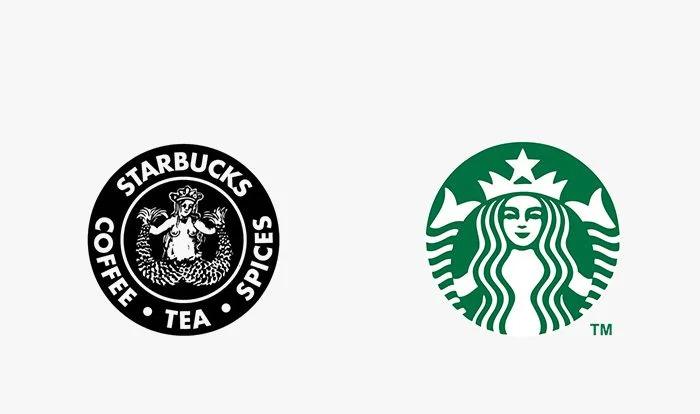 Logo starbucks prima e dopo