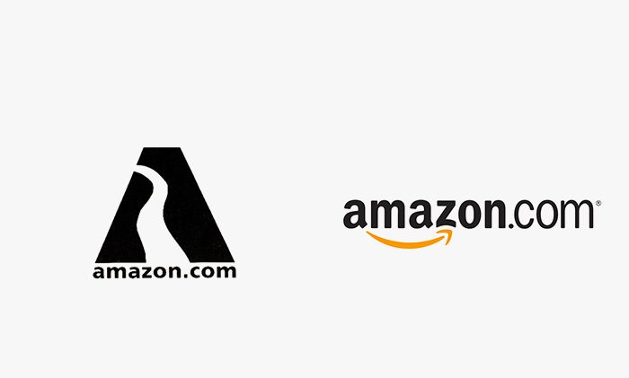 Logo amazon prima e dopo