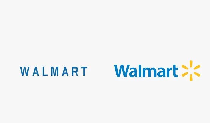 Logo walmart prima e dopo
