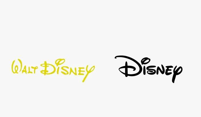 Logo disney prima e dopo