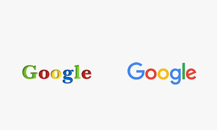 Logo google prima e dopo