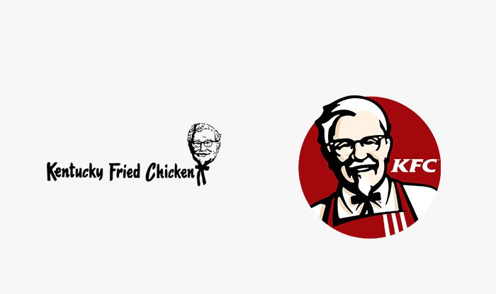 Logo KFC prima e dopo