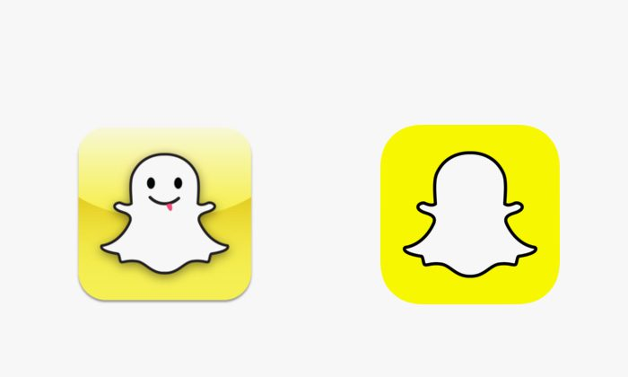 Logo Snapchat prima e dopo