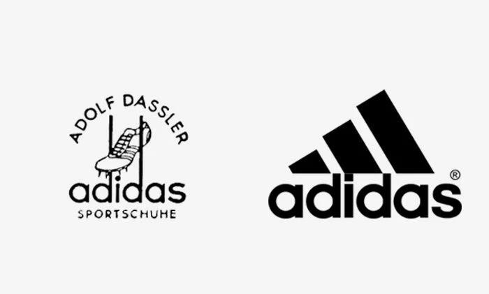 Logo Adidas prima e dopo