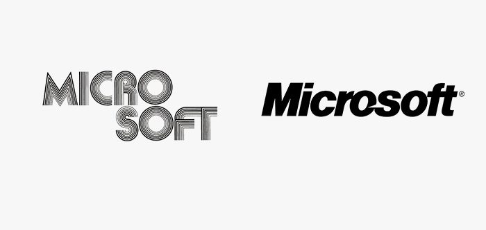 Logo microsoft prima e dopo