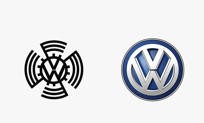 Logo volkswagen prima e dopo