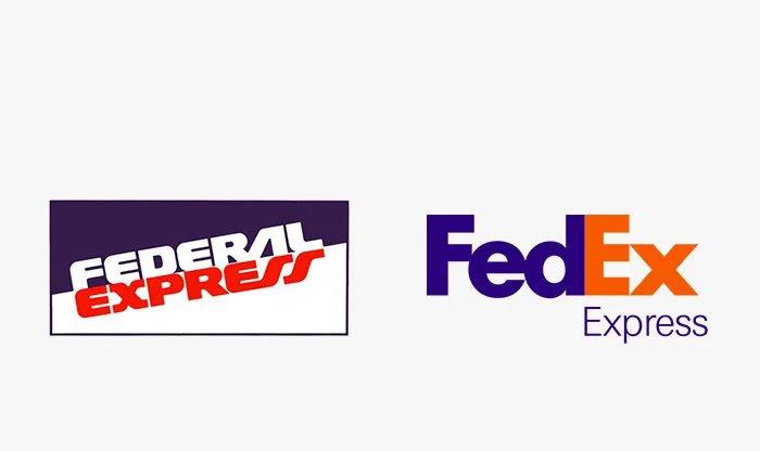 Logo fedex prima e dopo