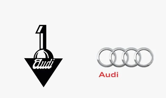 Logo audi prima e dopo