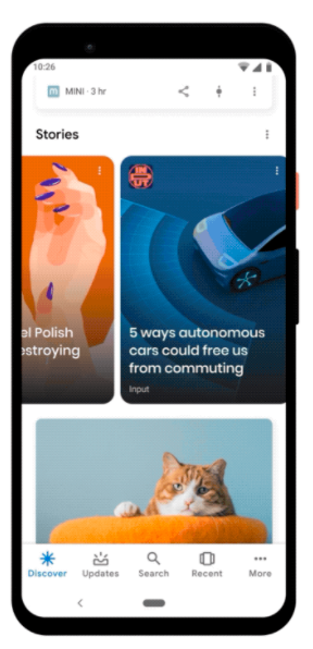 Google Discover Web Stories